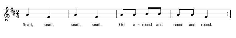 Snail, Snail musical notation