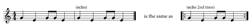 Cuckoo Song musical notation